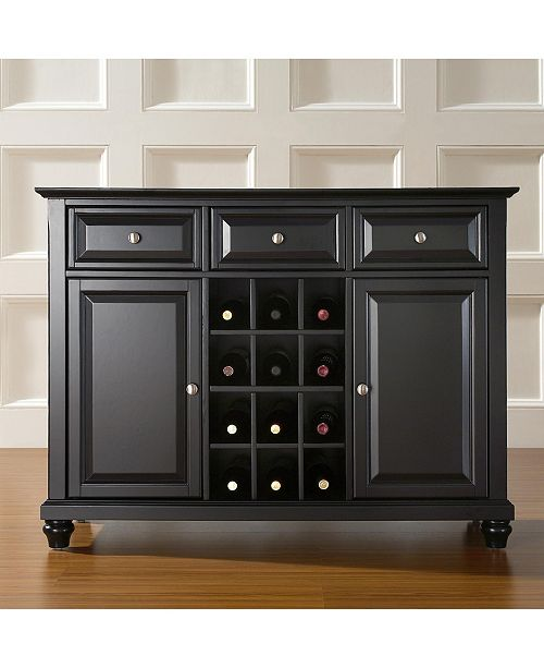 Crosley Cambridge Buffet Server Sideboard Cabinet With Wine Storage