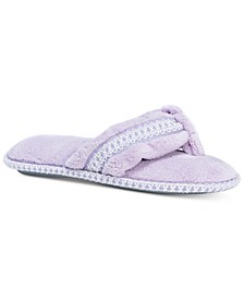 Women's Darlene Micro-Chenille Thong Slippers