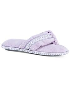 MUK LUKS® Women's Darlene Micro-Chenille Thong Slippers