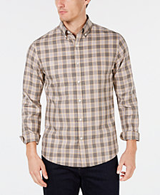 Michael Kors Mens Slim-Fit Plaid Shirt