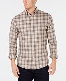 Michael Kors Mens Slim-Fit Plaid Shirt