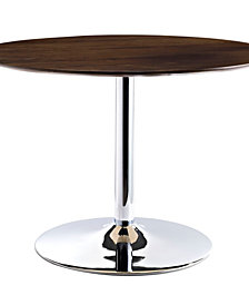 Modway Rostrum Round Wood Top Dining Table