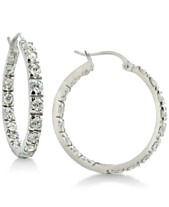 4bd8a00dd Giani Bernini Cubic Zirconia In & Out Hoop Earrings in Sterling Silver,  Created for Macy's