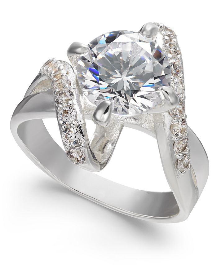 Charter Club - Crystal Stone Bypass Ring