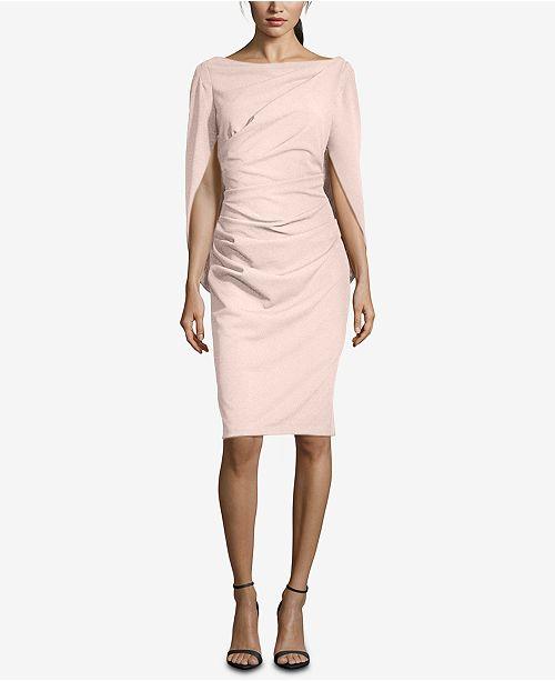 e8a97f949fd Betsy   Adam Caped Sheath Dress   Reviews - Dresses - Women - Macy s