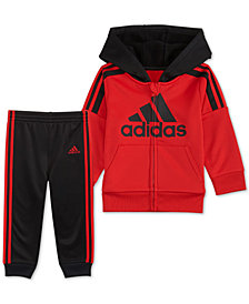 adidas Baby Boys 2-Piece Hooded Fleece Track Jacket & Pants Set