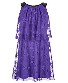 Epic Threads Big Girls Popover Star-Mesh Dress, Created for Macy's