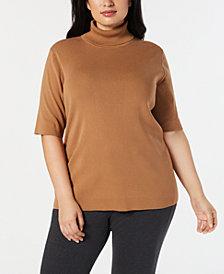 Anne Klein Plus Size Turtleneck Sweater