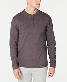 Perry Ellis Men's Cotton Henley Pajama Shirt