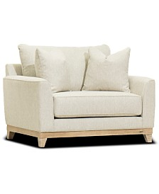 "Brackley 53"" Fabric Chair, Created for Macy's"