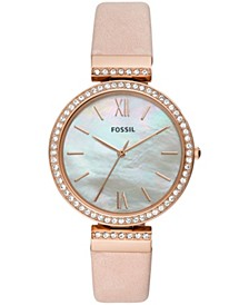 Women's Madeline Blush Leather Strap Watch 38mm