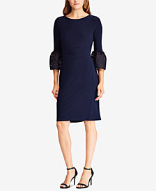 Lauren Ralph Lauren Petite Taffeta-Jersey Dress, Created for Macy's