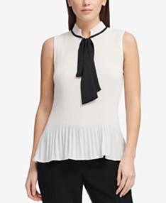 56a533ee581 Tie Neck Blouse: Shop Tie Neck Blouse - Macy's