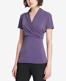 DKNY Side-Ruched Top, Created for Macy's