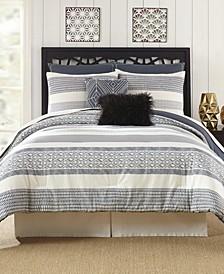 Presidio Square Deco Stripe Queen Comforter Set - 7 Piece