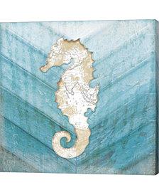 Coastal Seahorse By Jennifer Pugh Canvas Art