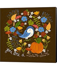 Autumn Bird by Lisa Powell Braun Canvas Art