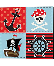 Ahoy Pirate Boy II By Nd Art & Design Canvas Art