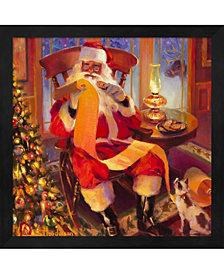 Santa Christmas List By Steve Henderson Framed Art