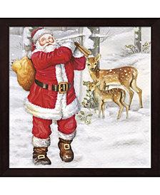 Santas Gift Bag And By Dbk-Art Licensing Framed Art