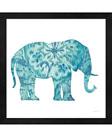 Boho Teal Elephant I By Danhui Nai Framed Art
