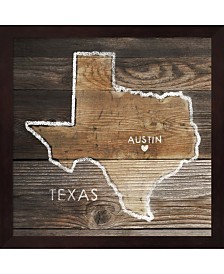 Texas Rustic Map By Pi Galerie Framed Art