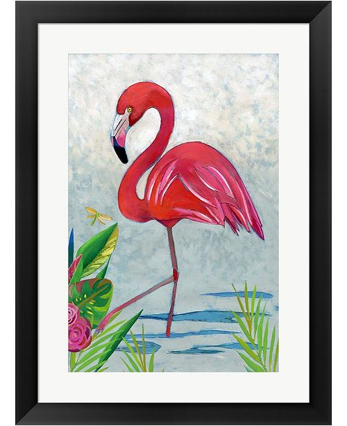 Metaverse Vivid Flamingo I By Chariklia Zarris Framed Art