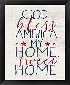 God Bless America By Jo Moulton Framed Art