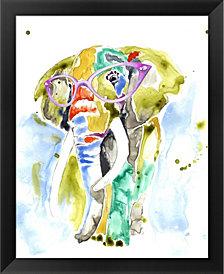 SmartyPants Elephant by Jennifer Goldberger Framed Art