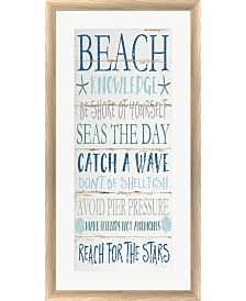 Beach Knowledge By Jennifer Pugh Framed Art