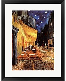 The Cafe Terrace On By Vincent Van Gogh Framed Art