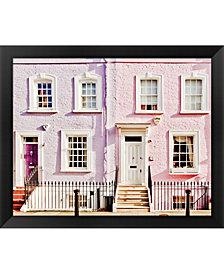 London Pink Purple H By Keri Bevan Framed Art