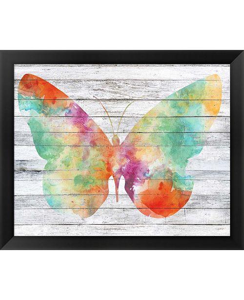 Metaverse Wings On Wood I By Jennifer Goldberger Framed Art