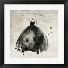 Black Dress I by PI Galerie Framed Art