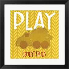 Cement Truck Cement by Jennifer Pugh Framed Art