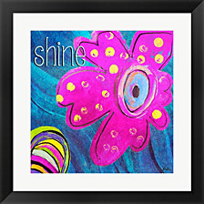 Bright Collage Flowers II by Patricia Pinto Framed Art