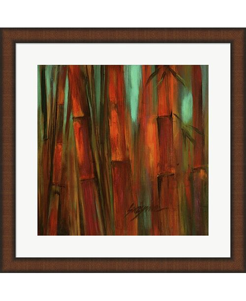 Metaverse Sunset Bamboo Ii By Suzanne Wilkins Framed Art