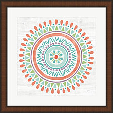 Lovely Llamas Mandala I by Mary Urban Framed Art