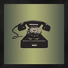 Mcm Telephone By Posters International Studio Framed Art