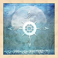 Sailor Away Compass By Lightboxjournal Framed Art