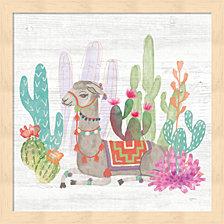 Lovely Llamas I By Mary Urban Framed Art