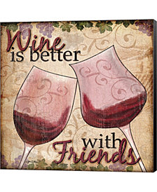 Wine With Friends II by Jen Killeen Canvas Art