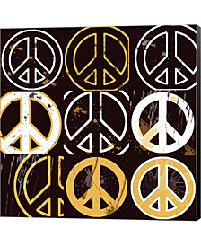 Peace Mantra Yellow By Erin Clark Canvas Art