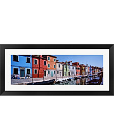 Houses At The Waterf By Panoramic Images Framed Art