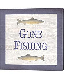 Gone Fishing Salmon By Veruca Salt Canvas Art