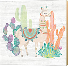 Lovely Llamas II by Mary Urban Canvas Art