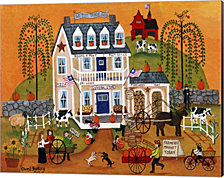 Old Tyme General Store Sampler by Cheryl Bartley Canvas Art