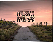 Where There Is No Struggle There Is No Strength - Color by Color Me Happy Canvas Art