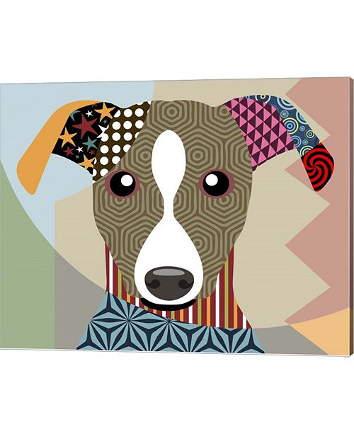 Metaverse Whippet By Lanre Adefioye Canvas Art