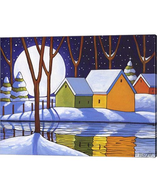 Metaverse Reflection Winter Night By Cathy Horvath-Buchanan Canvas Art